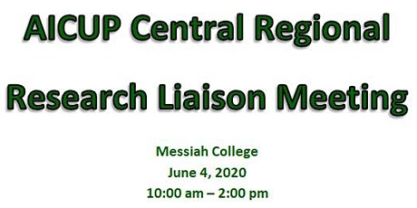 AICUP Regional Research Liaison Meeting (Messiah College) tickets