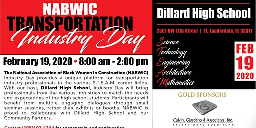 NABWIC SFL STEM Transportation Industry Day 2020 Dillard High School