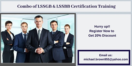 Combo of LSSGB & LSSBB 4 days Certification Training in Applegate, CA tickets