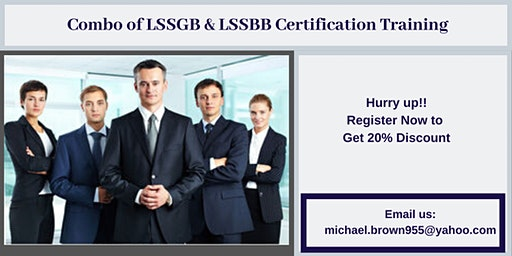 Combo of LSSGB & LSSBB 4 days Certification Training in Arcadia, CA