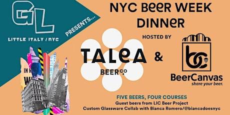 Grotta Local Presents: NYC Beer Week Dinner with Talea Beer Co.& BeerCanvas tickets