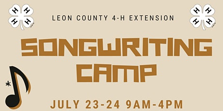 4-H Songwriting Camp tickets