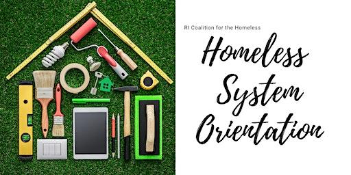 Homeless System Orientation
