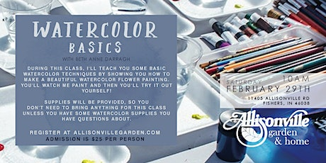 Watercolor Basics with Beth Anne tickets
