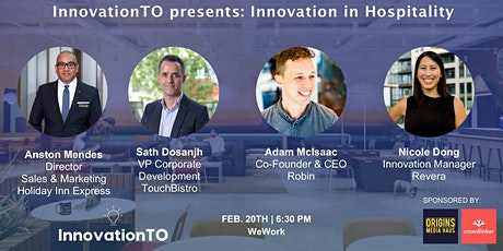 InnovationTO presents: Innovation in Hospitality tickets