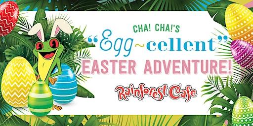 Cha! Cha!'s Egg-Cellent Easter Adventure - Rainforest Cafe Katy Mills