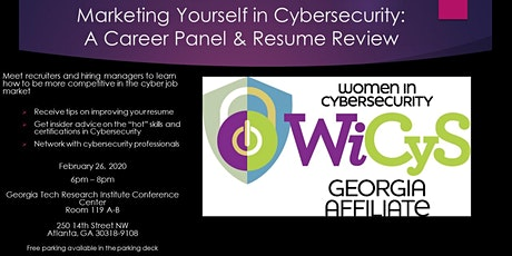 Marketing Yourself in Cybersecurity:  A Career Panel and Resume Review tickets