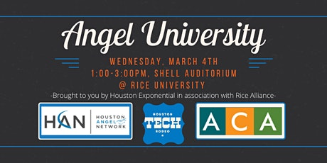 Angel  University at the Houston Tech Rodeo! tickets