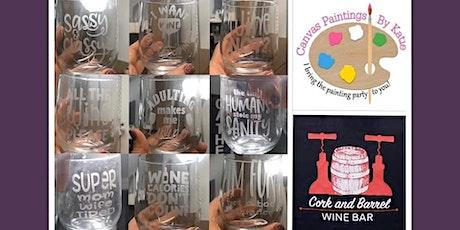 Wine & Wine Glass Etching tickets