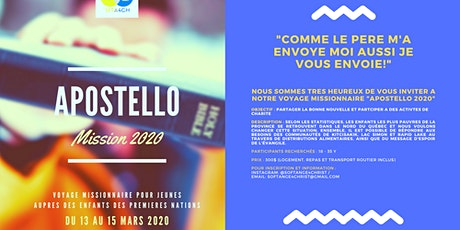 Apostello Mission 2020 billets