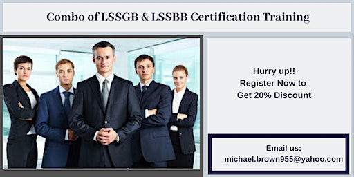 Combo of LSSGB & LSSBB 4 days Certification Training in Arnold, CA