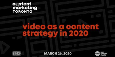 Content Marketing Toronto II: Video Marketing tickets