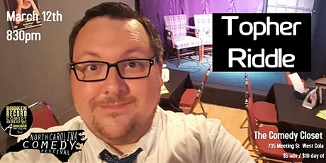 Topher Riddle LIVE tickets