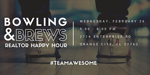 Bowling & Brews Realtor HAPPY HOUR with #TeamAwesome