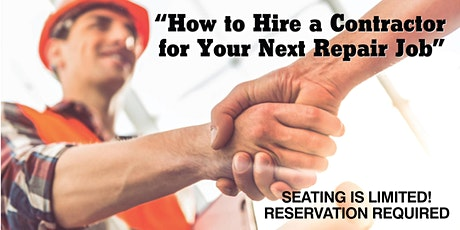 How to Hire a Contractor for Your Next Repair Job (OAK) tickets