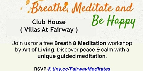 Breath & Meditation workshop by Art Of Living tickets