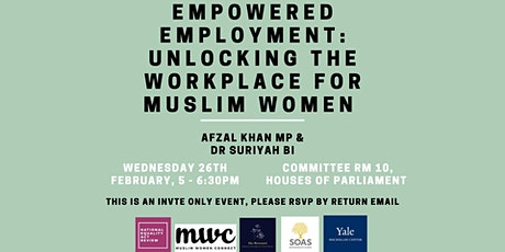 Empowered Employment: Unlocking the Workplace for Muslim Women tickets