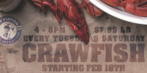 BELLE STATION:  CRAWFISH EVERY TUESDAY AND SATURDAY
