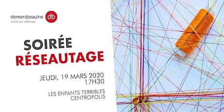 Soirée réseautage 19 mars - Jeunes Leaders  billets
