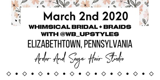 Bridal Braids / Boho Updo Class  Elizabethtown, Pennsylvania