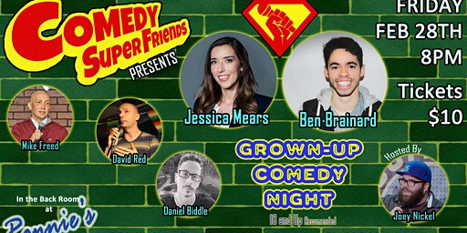 Grown-Up Comedy Night w/ Comedy Super Friends