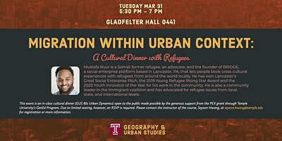 Migration Within Urban Context: A Cultural Dinner With Refugees