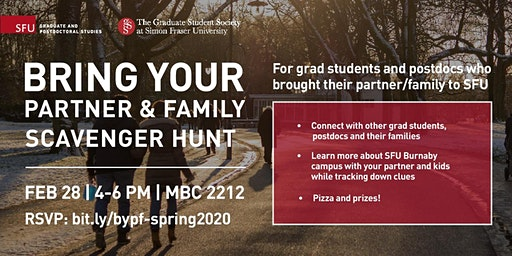 Bring your Partner & Family: Scavenger Hunt