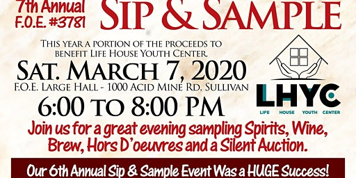 FOE Sip & Sample 2020 - Supporting Life House Youth Center