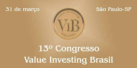 13º Congresso Value Investing Brasil ingressos
