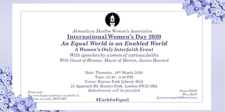 International Women's Day 2020 celebration - Interfaith dialogue tickets