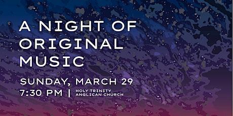 A Night of Original Music tickets