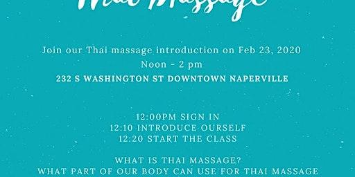 Thai Massage Intro Workshop