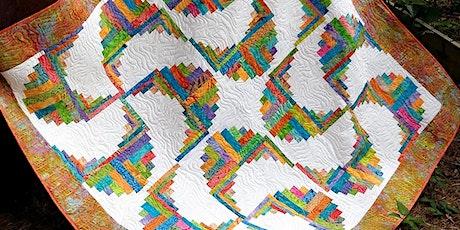 Rainbow Swirls Curvy Log Cabin tickets
