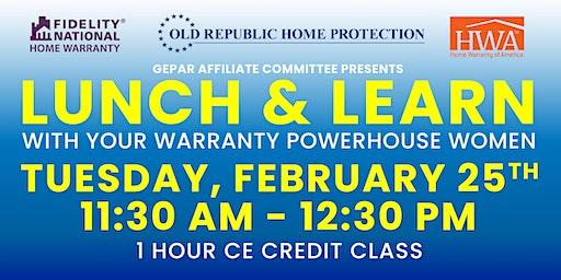 Lunch & Learn with your Warranty Powerhouse Women