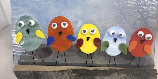 Dancing Birds Fused Glass Panel Class