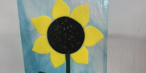 Sunflower Fused Glass Panel