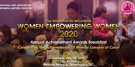 NBA-Women Lawyers Division  2020 Achievement Awards Breakfast tickets