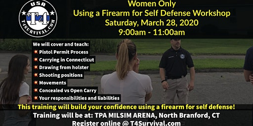Women Only Self Defense  & Use of a Handgun for Self Defense Workshop