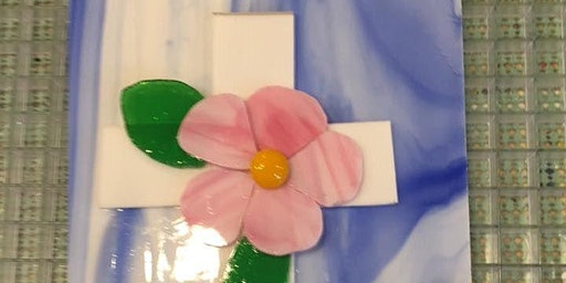 Stand Alone Cross OR Cross Fused Glass Panel