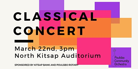 Poulsbo Community Orchestra's Classical Concert- Donor Seats tickets