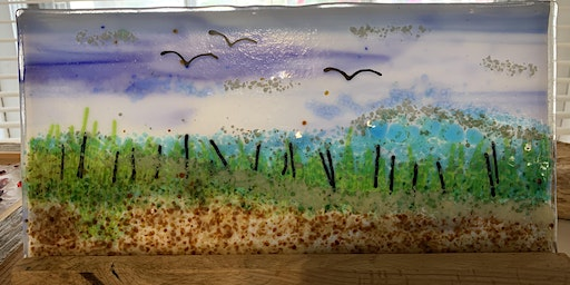 Take Me to the Beach Double Frit Panel Fused Glass Class