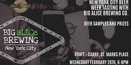 Craft + Carry NYC Beer Week Tasting with Big aLICe Brewing tickets