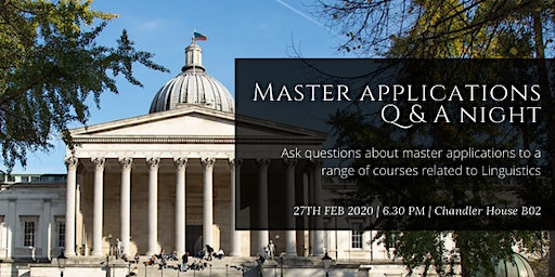 Master applications Q&A Night
