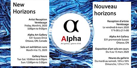 NEW HORIZONS • Vernissage • Nancy Brandsma @ Alpha Art Gallery (Solo Show) tickets