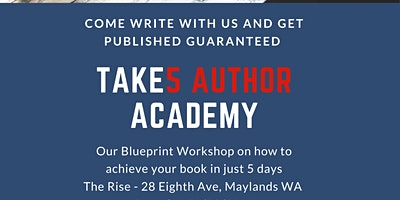 An Author Academy WRITERS & BOOK PUBLISHING WORKSHOP