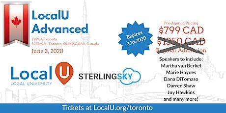 LocalU Advanced - Toronto, ON - June 3, 2020 tickets