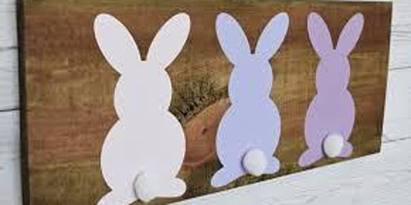 Easter Bunny Wood Sign Paint Class tickets