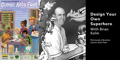 Design Your Own Superhero With Brian Kolm - A PLCAF Event tickets
