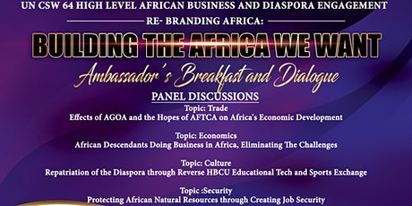 Building the Africa We Want: Ambassador Breakfast & Dialogue tickets