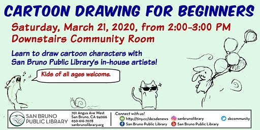 Cartoon Drawing for Beginners - A PLCAF Event